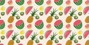 Fruit Tropical Pattern_905_905